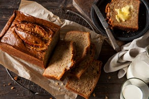 Wrapped Banana Bread Slices